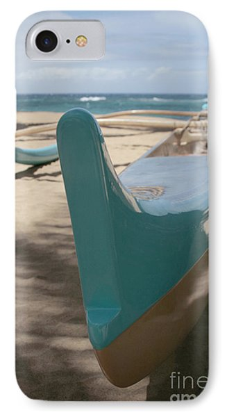 hui o waa Kuau Outrigger Canoe Paia Phone Case by Sharon Mau