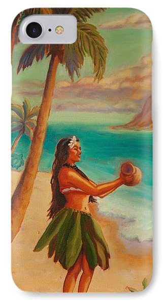 IPhone Case featuring the painting Hula Aloha by Janet McDonald