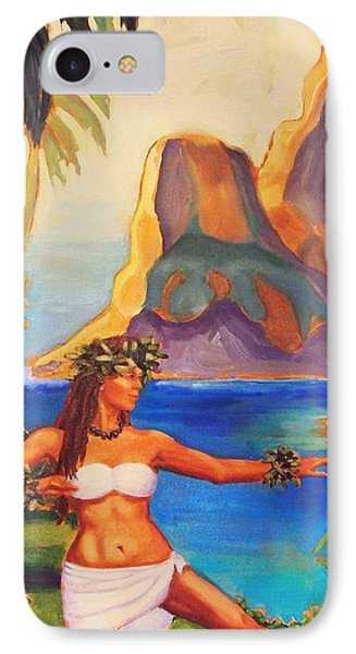IPhone Case featuring the painting Hula Glow by Janet McDonald