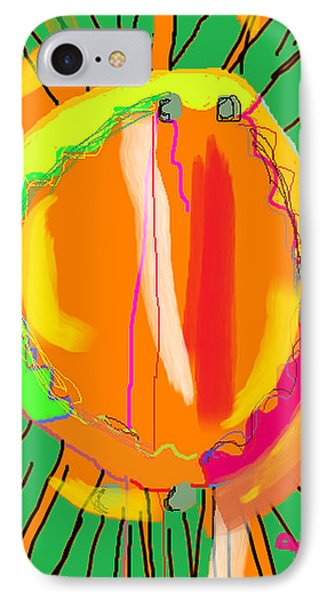 IPhone Case featuring the digital art Hula Hoop by Anita Dale Livaditis