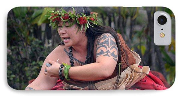 Hula Woman IPhone Case by Lori Seaman