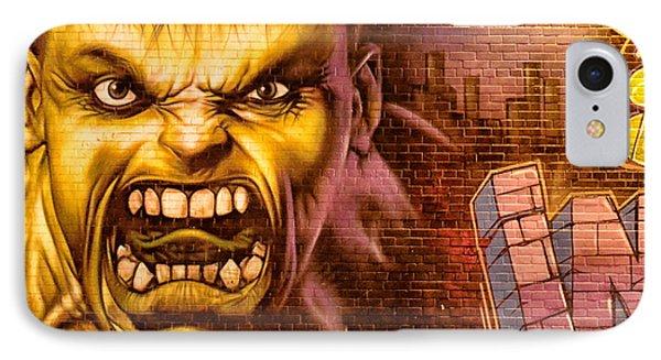 Hulk Graffiti In The Bronx New York City Phone Case by Sabine Jacobs