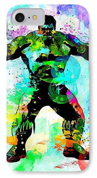 Hulk Watercolor IPhone Case by Daniel Janda