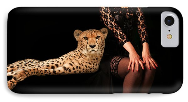 IPhone Case featuring the photograph Human And Animal by Christine Sponchia