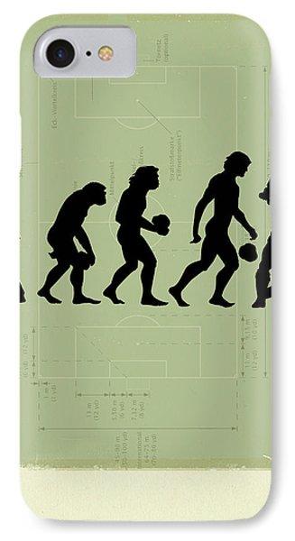 Soccer iPhone 7 Case - Human Evolution by Smetek