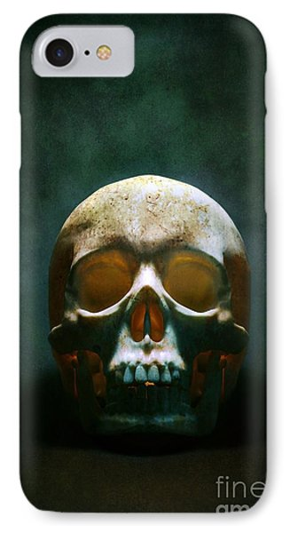Human Skull IPhone Case by Carlos Caetano