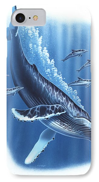 Humback And Dolphins Phone Case by JQ Licensing