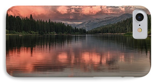Hume Lake Sunset IPhone Case by Terry Garvin