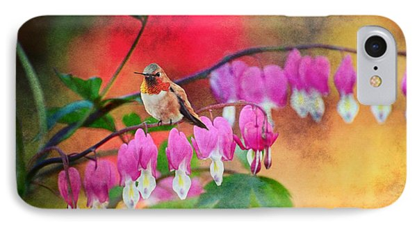 Hummer With Heart Phone Case by Lynn Bauer