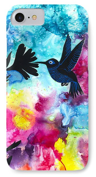 Hummingbird IPhone Case by Cat Athena Louise