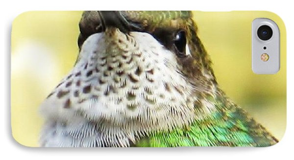 Hummingbird Details 2 IPhone Case by Judy Via-Wolff