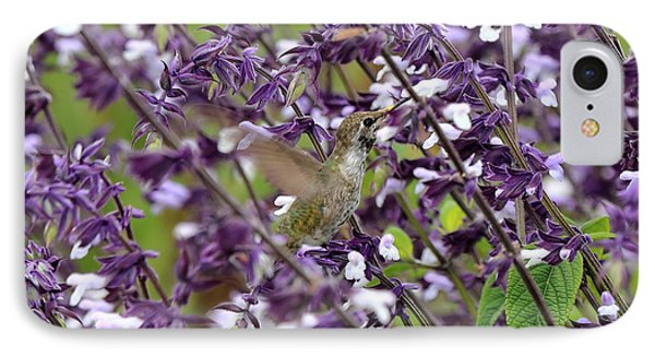 Hummingbird Flowers IPhone Case