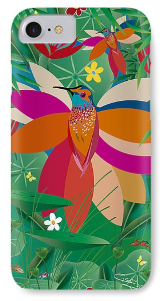 Hummingbird - Limited Edition  Of 10 IPhone Case by Gabriela Delgado
