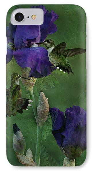 Hummingbird Gathering IPhone Case by TnBackroadsPhotos