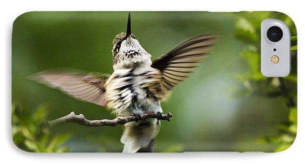 Hummingbird Happy Dance Phone Case by Christina Rollo