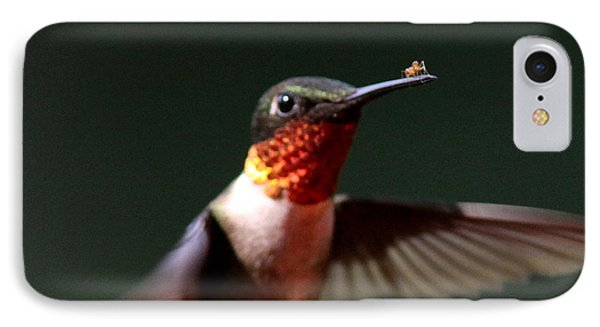 Hummingbird - Hitching A Ride - Ruby-throated Hummingbird Phone Case by Travis Truelove