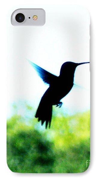IPhone Case featuring the digital art Hummingbird Hover by Lizi Beard-Ward