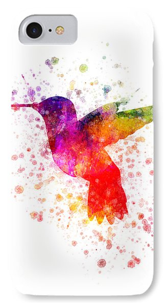 Hummingbird In Color IPhone Case by Aged Pixel
