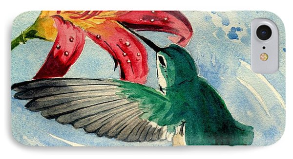 Hummingbird IPhone Case by Melly Terpening