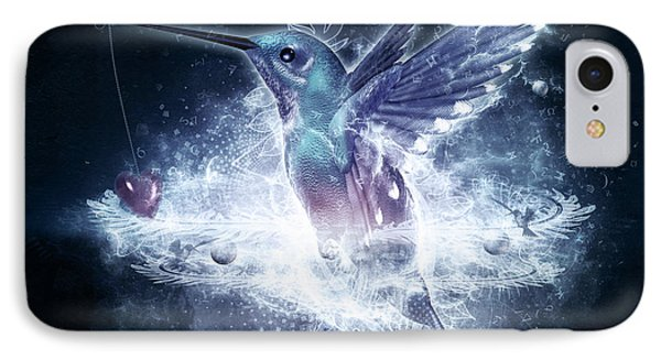 Hummingbird Print IPhone Case by Cameron Gray