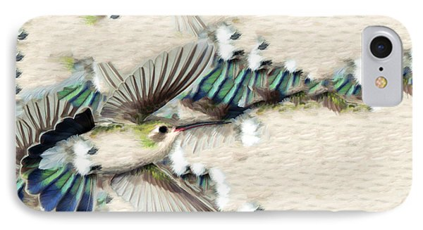 Hummingbird With Happy Feet IPhone Case by Gregory Scott