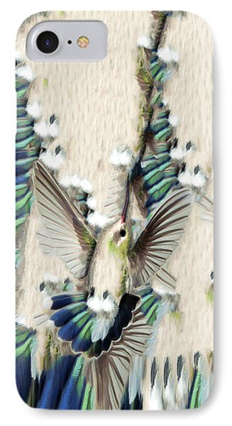 IPhone Case featuring the photograph Hummingbird With Happy Feet - Phone Case by Gregory Scott