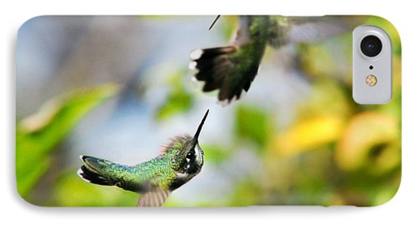 Hummingbirds Ensuing Battle IPhone 7 Case by Christina Rollo