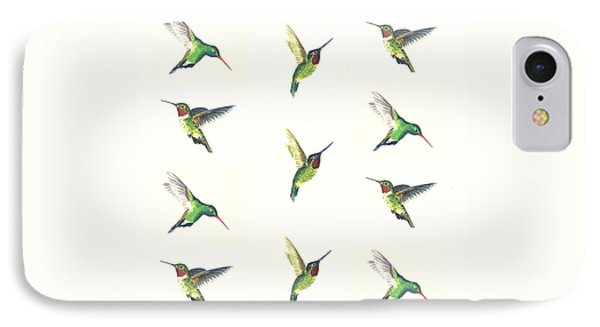 Hummingbirds Number 2 IPhone 7 Case by Michael Vigliotti