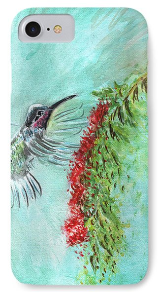 Hummingbird Bird Phone Case by Remy Francis