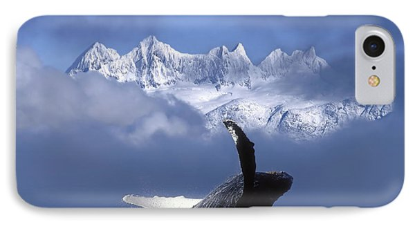 Humpback Whale Breaches In Clearing Fog IPhone 7 Case by John Hyde