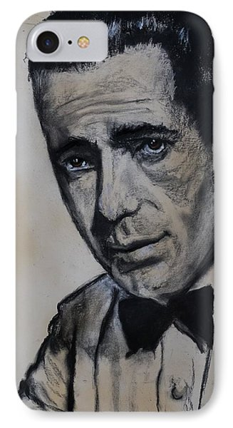 IPhone Case featuring the drawing Humphrey Deforest Bogart -1  by Eric Dee
