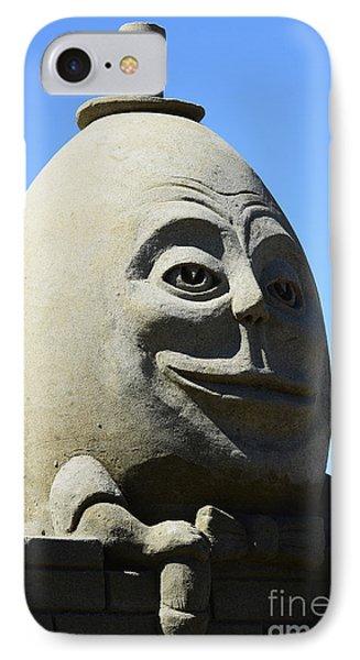 Humpty Dumpty Sand Sculpture Phone Case by Bob Christopher