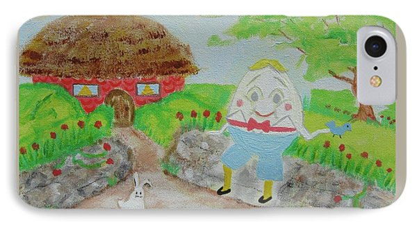 Humpty's House IPhone Case by Diane Pape