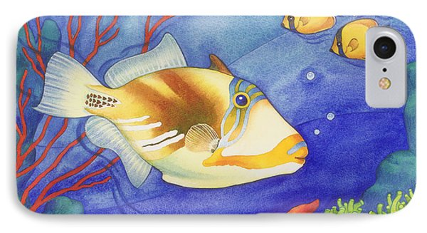 Humu Picasso Triggerfish IPhone Case by Laura Nikiel