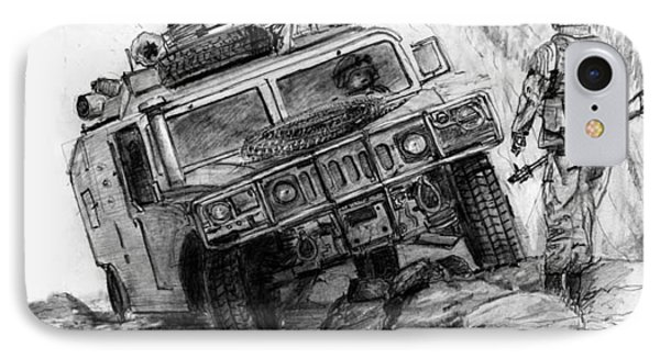 Humvee-afghanistan IPhone Case