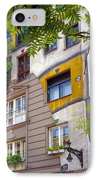 Hundertwasser House IPhone Case by Bob Phillips