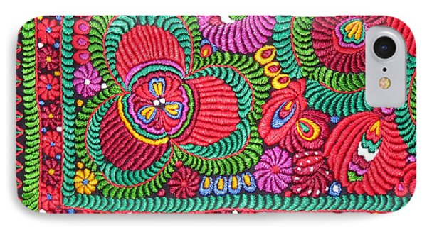 Hungarian Magyar Matyo Folk Embroidery  IPhone Case by Andrea Lazar