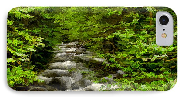 IPhone Case featuring the digital art Hunt Creek At Priest Lake by Sam Rosen