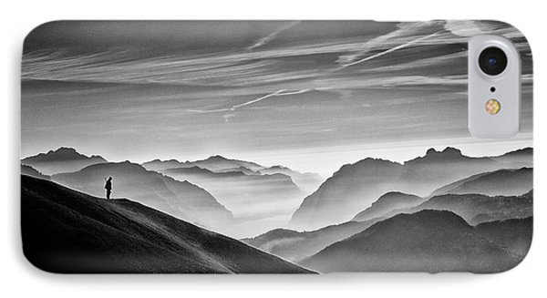 Hunter In The Fog Bw IPhone Case