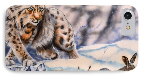 Hunting Lynx IPhone Case by Andrea Pischel