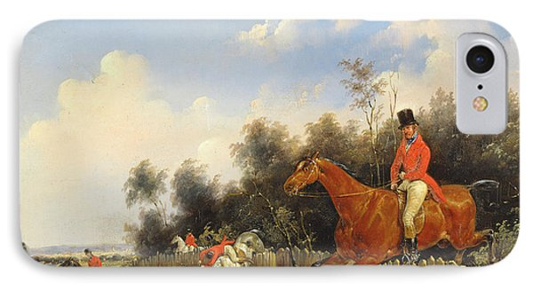 Hunting Scene Phone Case by Bernard Edouard Swebach