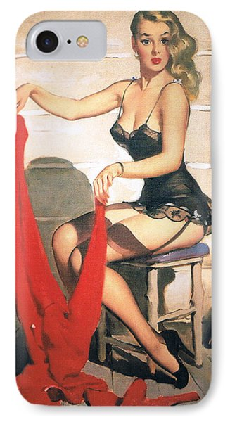 Hunting Time - Retro Pinup Girl IPhone Case