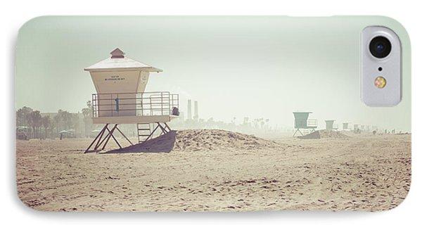 Huntington Beach Lifeguard Tower #1 Retro Photo IPhone Case by Paul Velgos