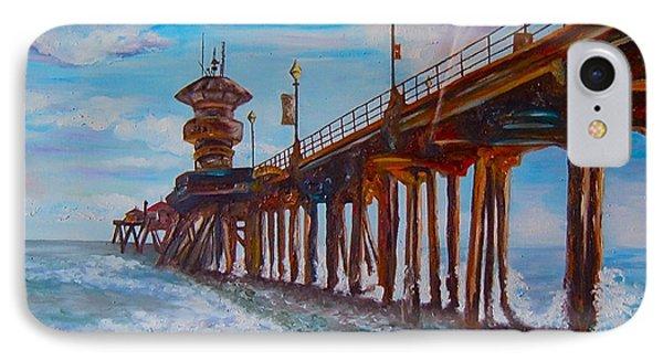 Huntington Beach Pier 2 IPhone Case