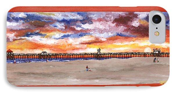 Huntington Beach Pier 3 IPhone Case