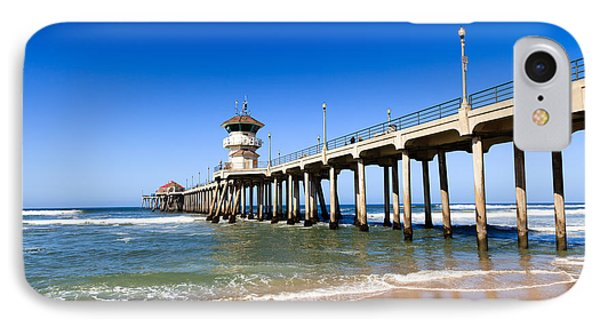 Huntington Beach Pier In Southern California Phone Case by Paul Velgos