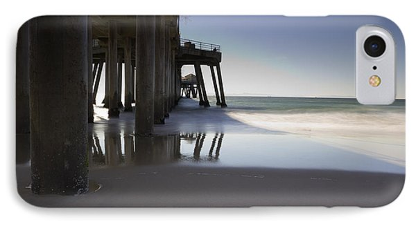Huntington Beach Pier - Looking Out Phone Case by Heidi Smith