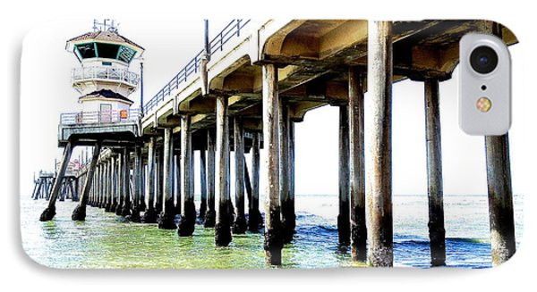 Huntington Beach Pier IPhone Case by Margie Amberge