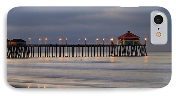 Huntington Beach Pier Morning Lights IPhone Case by Duncan Selby