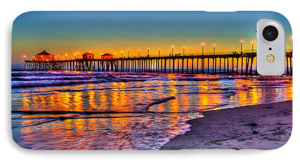IPhone Case featuring the photograph Huntington Beach Pier Sundown by Jim Carrell